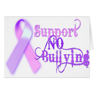 Support No Bullying Card
