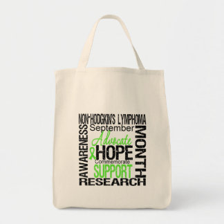 Support Non Hodgkins Lymphoma  Awareness Month Grocery Tote Bag