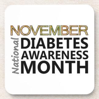 Support November National Diabetes Awareness Month Beverage Coaster
