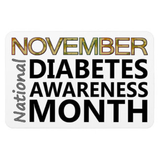 Support November National Diabetes Awareness Month Magnet
