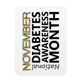 Support November National Diabetes Awareness Month Rectangular Photo Magnet