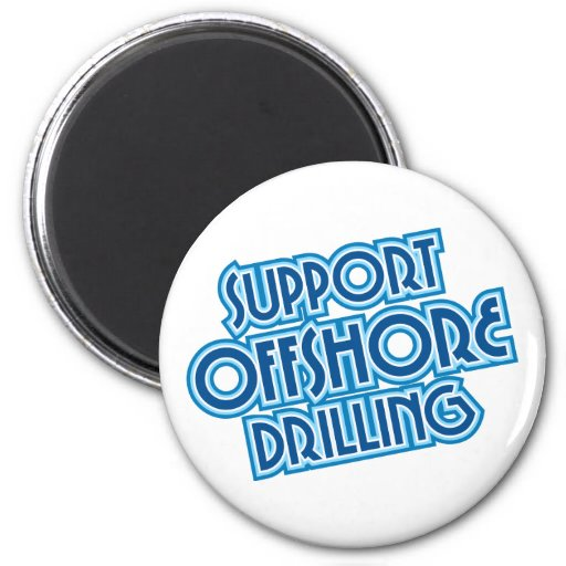 Support Offshore Drilling Magnet