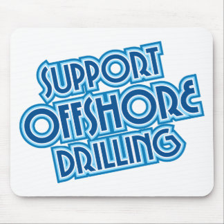 Support Offshore Drilling Mouse Pad