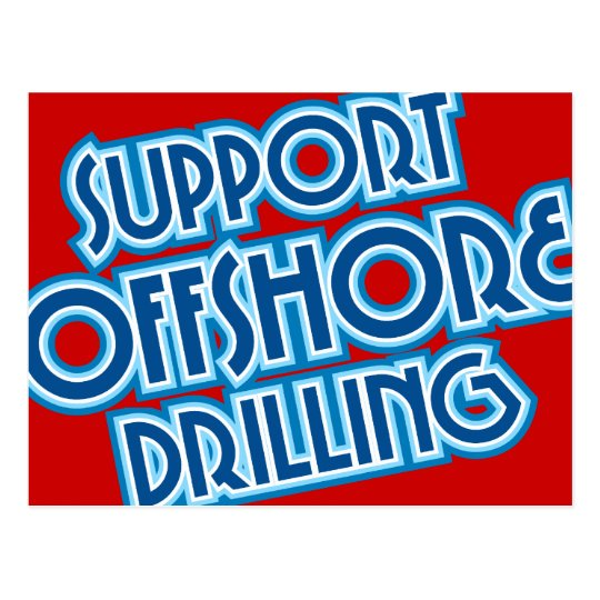 Support Offshore Drilling Postcard