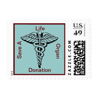 Support Organ Caduceus Donation Postage