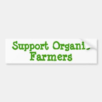 Support Organic Farmers Car Bumper Sticker