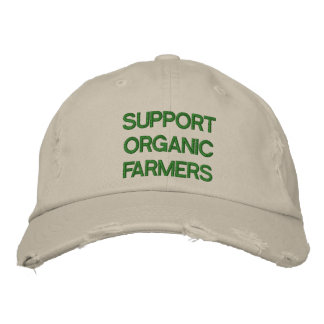 SUPPORT ORGANIC FARMERSGLOBAL WARMING OBAMA EMBROIDERED HATS