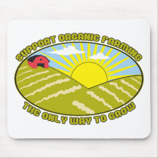 Support Organic Farming Mouse Pad
