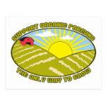 Support Organic Farming Postcard