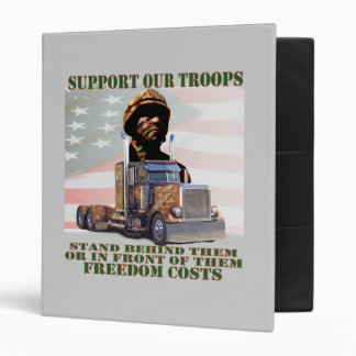 Support Our American Troops 3 Ring Binder
