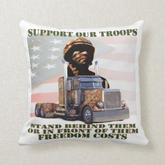 Support Our American Troops Pillows