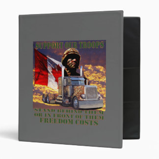 Support Our Canadian Troops Vinyl Binders