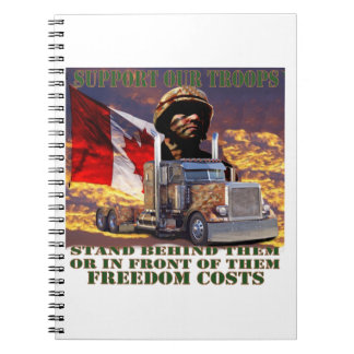 Support Our Canadian Troops Notebook