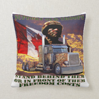 Support Our Canadian Troops Pillow