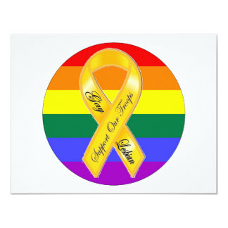 Support Our Gay and Lesbian Troops! 4.25x5.5 Paper Invitation Card
