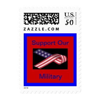 Support our Military Stars and Stripes Flag Ribbon Postage