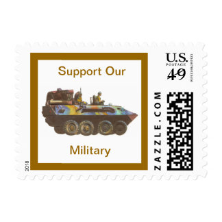 Support Our Military Tank US Postage Stamp