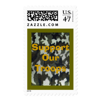 Support our Military Troops Camouflage Postage