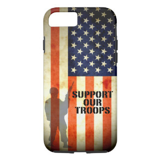 Support our Troop American Flag iPhone 7 case