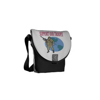 Support Our Troops 1.png Messenger Bags
