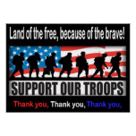 """Support Our Troops 24.00"""" X 33.60"""" or Less Poster"""