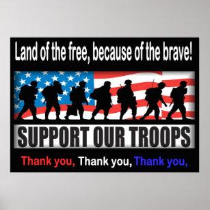 thank you veterans posters photo prints zazzle