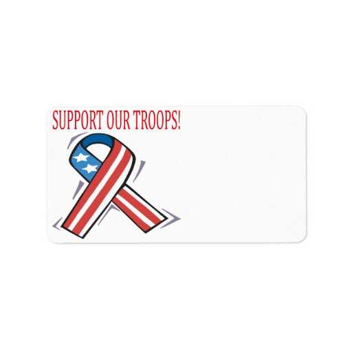 Support Our Troops Address Label