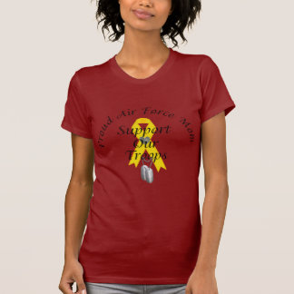 Support Our Troops Air Force Mom (Yellow Ribbon) T-shirt
