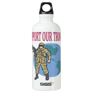 Support Our Troops Aluminum Water Bottle