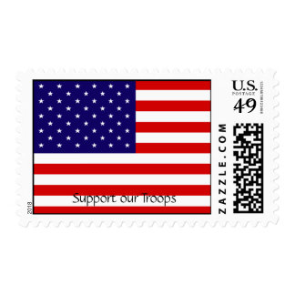 """""""Support our troops""""-American Flag Postage Stamps"""