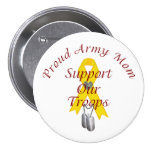 Support Our Troops Army Mom (Yellow Ribbon) Pins