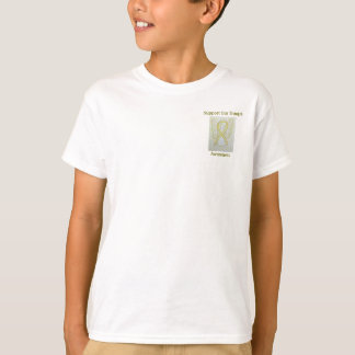 Support Our Troops Awareness Ribbon Angel Tee