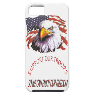 Support Our Troops Bald Eagle With A Tear USA Flag iPhone 5 Cover