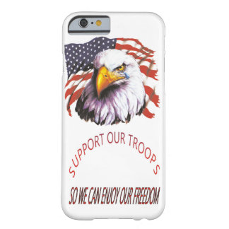 Support Our Troops Bald Eagle With A Tear USA Flag Barely There iPhone 6 Case