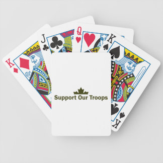 Support Our Troops Bicycle Playing Cards