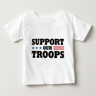 Support Our Troops - Black Baby T-Shirt