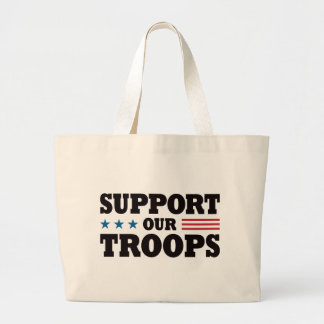 Support Our Troops - Black Jumbo Tote Bag