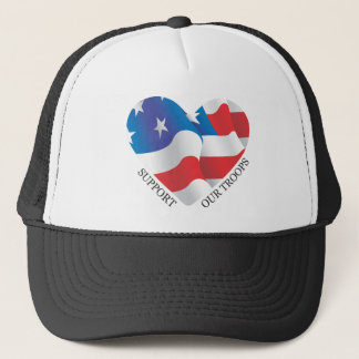 Support Our Troops Black Baseball Cap
