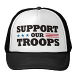 Support Our Troops - Black Mesh Hat