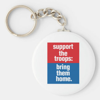 Support our troops: Bring them home Basic Round Button Keychain