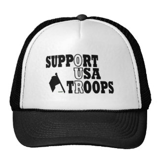 SUPPORT OUR TROOPS CAP TRUCKER HAT