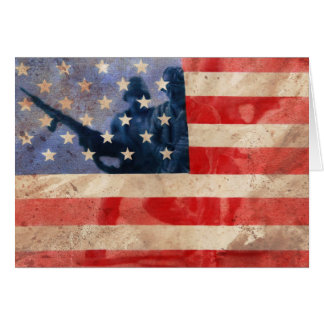 support our troops greeting card