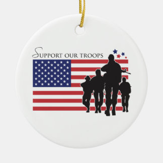 Support our Troops Ceramic Ornament