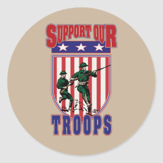 Support Our Troops Classic Round Sticker