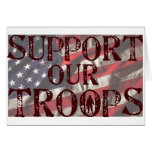 support our troops copy card
