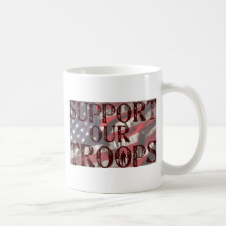 support our troops copy coffee mug