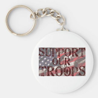 support our troops copy keychain