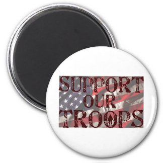 support our troops copy magnet