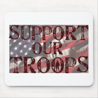 support our troops copy mouse pad