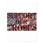 support our troops copy postcard